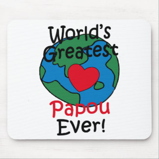 World's Greatest Papou Heart Mouse Pad