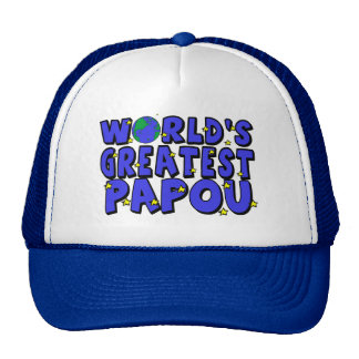 World s Greatest Papou Mesh Hats