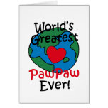 World's Greatest PawPaw Heart Cards