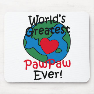 World's Greatest PawPaw Heart Mouse Pad