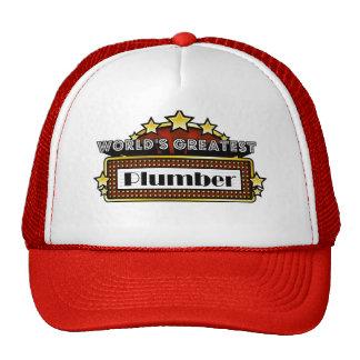 World s Greatest Plumber Mesh Hats