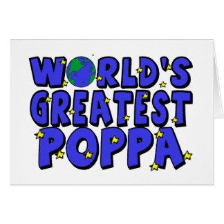 World s Greatest Poppa Greeting Card