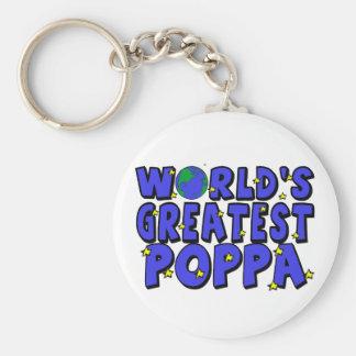 World s Greatest Poppa Keychain