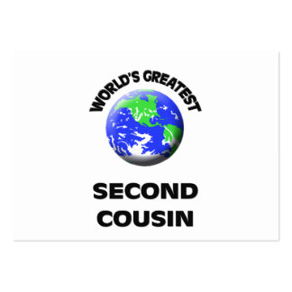 World s Greatest Second Cousin Business Card Template