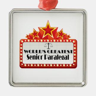 World s Greatest Senior Paralegal Ornaments