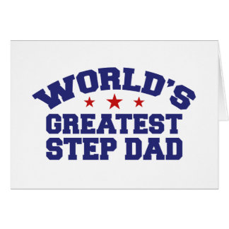 World s Greatest Step Dad Greeting Card