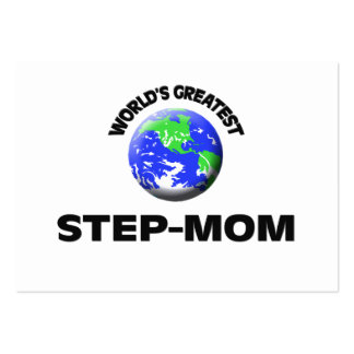 World s Greatest Step-Mom Business Card Templates