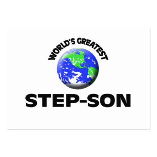 World s Greatest Step-Son Business Card Template