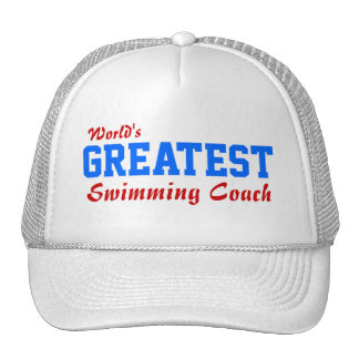 World s Greatest Swimming Coach Hats
