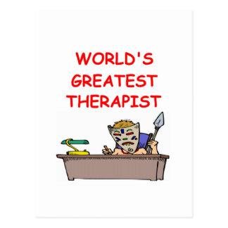 world s greatest therapist post card