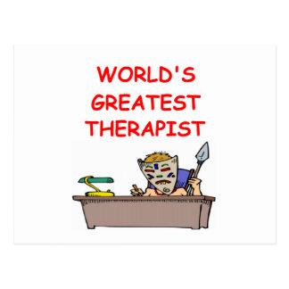 world s greatest therapist postcards