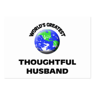 World s Greatest Thoughtful Husband Business Card
