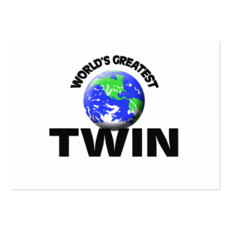 World s Greatest Twin Business Card Template