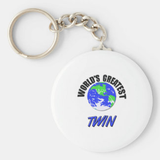 World s Greatest Twin Key Chain
