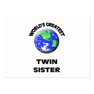 World s Greatest Twin Sister Business Cards