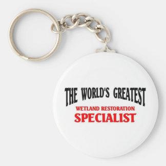 "World""s Greatest Wetland Specialist Basic Round Button Key Ring"