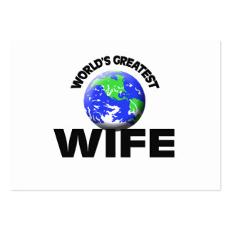 World s Greatest Wife Business Card Template