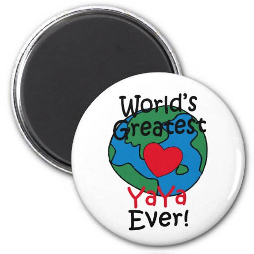 World's Greatest YaYa Heart Fridge Magnet
