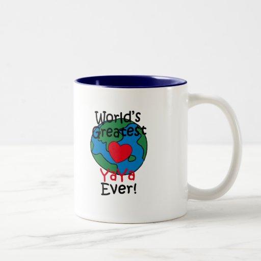 World's Greatest YaYa Heart Coffee Mugs
