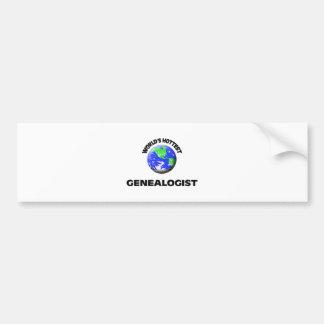 World s Hottest Genealogist Bumper Sticker