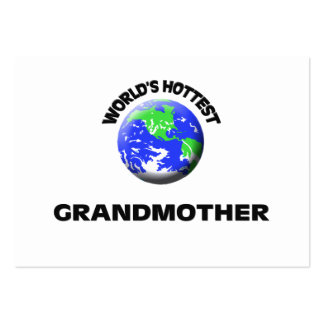 World s Hottest Grandmother Business Card Templates