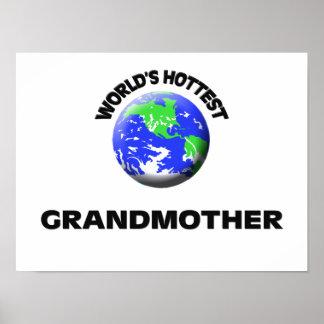World s Hottest Grandmother Print