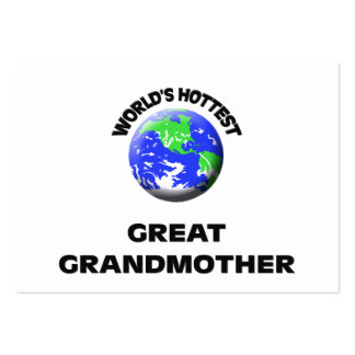 World s Hottest Great Grandmother Business Card Template