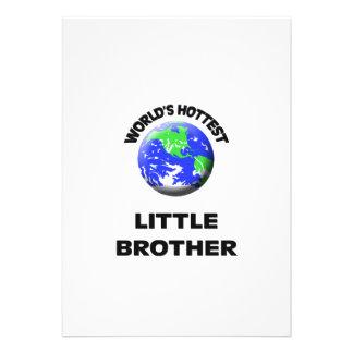 World s Hottest Little Brother Custom Invitations