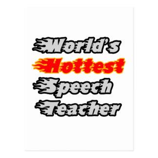 World s Hottest Speech Teacher Postcards