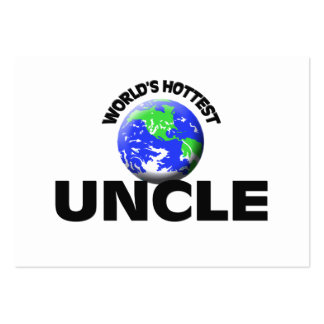 World s Hottest Uncle Business Card Templates