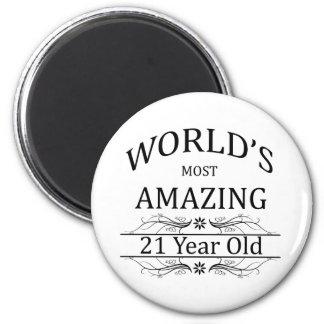World s Most Amazing 21 Year Old Fridge Magnet