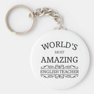 World s most amazing english teacher keychain