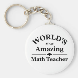 World s most amazing Math Teacher Keychain