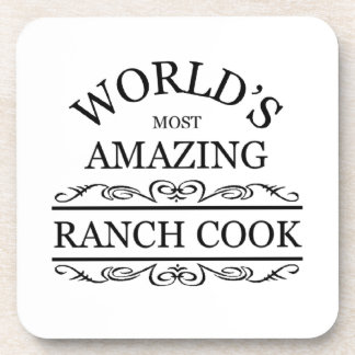 World s most amazing Ranch cook Beverage Coasters