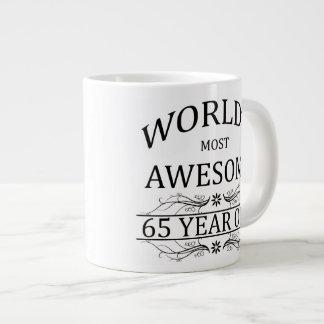 World s Most Awesome 65 Year Old Extra Large Mug