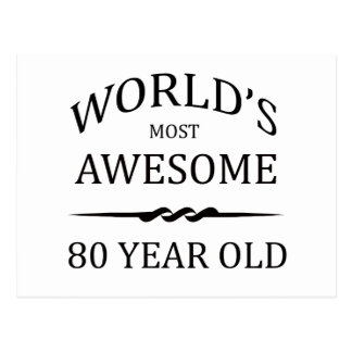 World s Most Awesome 80 Year Old Postcard