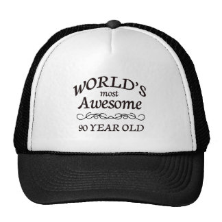 World s Most Awesome 90 Year Old Trucker Hat