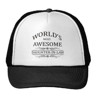 World s Most Awesome Godmother Mesh Hat