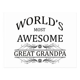 World s Most Awesome Great Grandpa Postcard