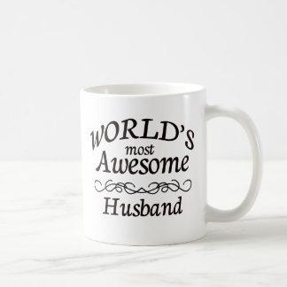 World s Most Awesome Husband Coffee Mugs