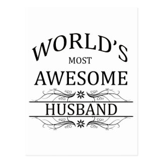 World s Most Awesome Husband Postcards