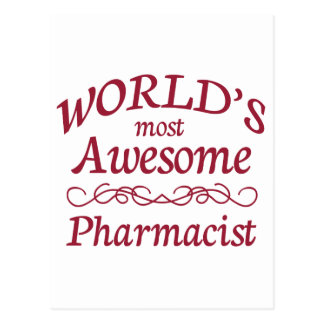 World s Most Awesome Pharmacist Post Cards