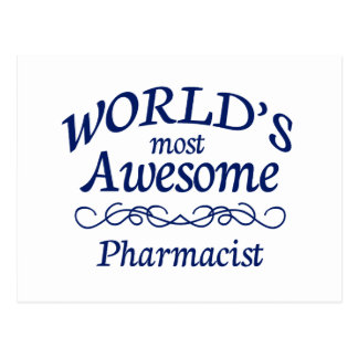 World s Most Awesome Pharmacist Postcards