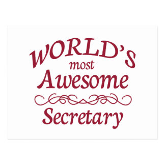 World s Most Awesome Secretary Postcards