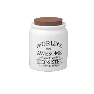 World s Most Awesome Step-Sister Candy Jar