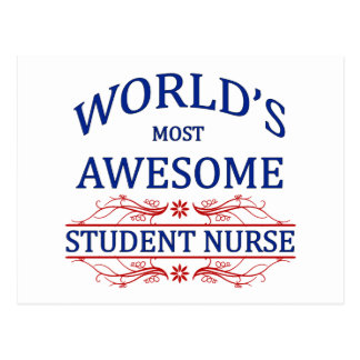 World s Most Awesome Student Nurse Postcard