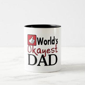 World s okayest dad funny humor mug