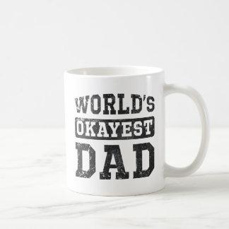 World s Okayest Dad Vintage Coffee Mugs