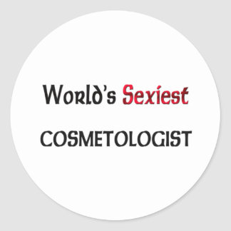 World s Sexiest Cosmetologist Sticker