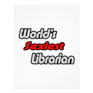 World s Sexiest Librarian Personalized Flyer